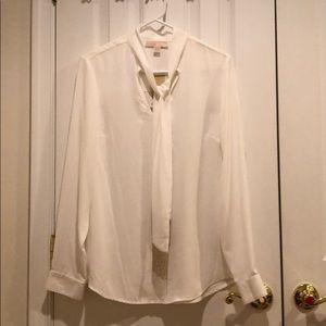 Michael Kors white blouse w/tag M